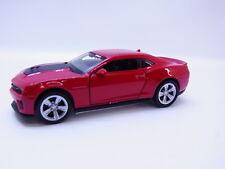 47685   Welly CHEVROLET CAMARO zl1 2009-1016 modello di auto rosso automobili 1:42 NUOVO