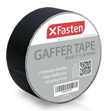 XFasten Black Gaffer Tape, 2 Inch X 30 Yards