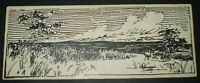 EUGENE WIELAND, LANDSCAPE 2, 1905, PEN AND INK, ART, ALEISTER CROWLEY ASSOCIATE