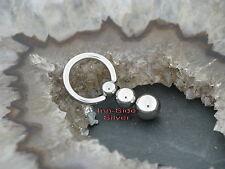 BALL CLOSURE ring piercing pendulum intime Helix poitrine Boucle d'oreille 3 Ball 1,6mmx8-12mm