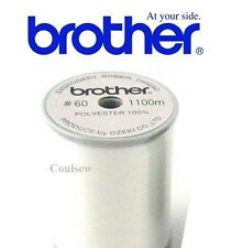 BROTHER EMBROIDERY BOBBIN THREAD WHITE 1100M 60 weight Machine Lower Bottom