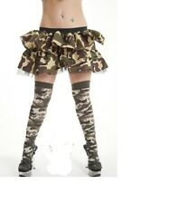 753ef0dbe89 Ladies Army Camouflage Over The Knee Socks Womens Military OTK Fnadelwkmm