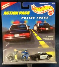 HOT WHEELS CARDED ACTION PACKS POLICE FORCE ARMORED TRUCK AND POLICE CAR
