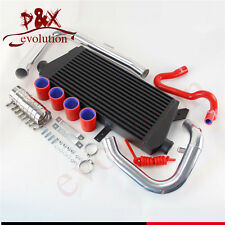 Front Mount Intercooler+Pipe Kit for Audi A4 1.8T Turbo B6 Quattro 02-06 Red