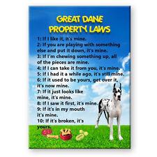 Great Dane Property Laws Fridge Magnet No 2 Funny