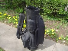 "MacGregor Lightweight Nylon 8"" Solid Black Cart Golf Bag Usa"