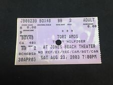 TORI AMOS Concert Ticket Stub. August 23, 2003. Jones Beach Theater. 8/23/03.