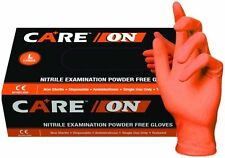 CARE ON ORANGE NITRILE PF Gloves ON50005 5- 5.5 mil - Size Small