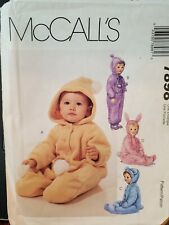 McCall's pattern 7898 Infants' front button Bunting size Sm,Med, Lrg, XL uncut