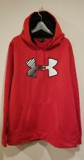 Under Armour Storm Men's Red Logo Hoodie - Size XL
