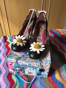 Irregular Choice 'Dippy Daisy' Black Size EU 41 / UK 7.5 / US 10 £85