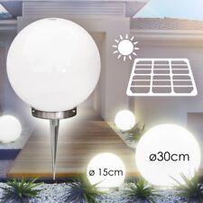 Luci Solare Giardino Illuminazione Esterno Sfere luminose Bianco 15 & 30 CM LED