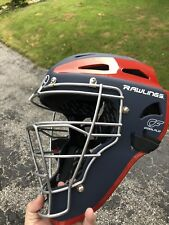 Rawlings Velo Series Coolflo Baseball Cachters Helmet Navy/Scarlet