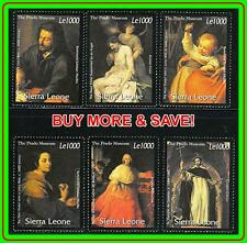 SIERRA LEONE 2000 FAMOUS PAINTINGS by MURILLO, etc.  MNH ** COSTUMES, MADONNA