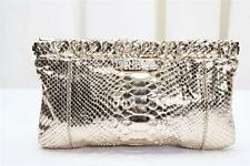 GERARD DAREL Gold Snakeskin Clutch Evening Bag Cocktail Handbag Purse