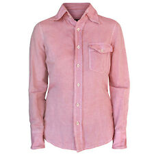 DSQUARED2 wire collar & cuff light red pink chambray dsquared button shirt 40/4