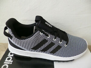 Adidas Trainers Racer Tr Sneakers Lace Up Black/White New