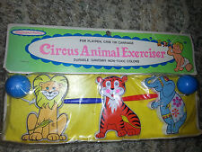 Baby CRIB PLAYPEN STROLLER TOY Vintage CIRCUS ANIMAL EXERCISER Sanitoy NEW