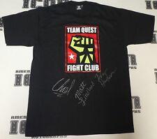 Chael Sonnen Dan Henderson Matt Lindland Signed Team Quest Shirt PSA/DNA COA UFC