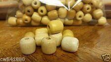"Lot of 100 Brown Barrel Wood Craft Beads Mix 5/8"" hole size 1/4"" Jewelry Macrame"
