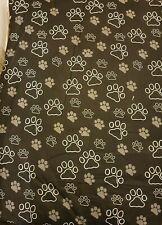 BNWOT  Black & White Paw Print  Medium Dog Pet Bed/Mattress/Pillow Free Bowl.
