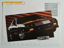 CHEVROLET CAMARO 1986 dealer brochure - French - Canada