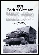 1974 Toyota Land Cruiser SUV Rock of Gibraltar vintage print ad