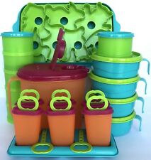Tupperware Kids Party Set Pitcher Ice Tups Cups Ice Cream Cookie Jello Mold New