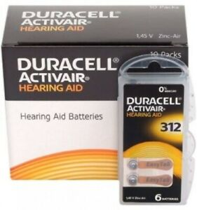 Duracell Hearing Aid Batteries Size 312 - Fast shipping- Fresh Exp-2024