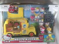 Hello Kitty School Bus Playset-New in box-30 + pcs-Sanrio-Figures-Food-Furniture