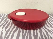 Tupperware Rock N Serve Container 3 1/4 Cups Red Microwaveable New