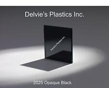 "1/4""  2025 Opaque Black Cell Cast Acrylic Sheet  12"" x 24"""