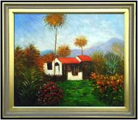 Framed Hand Painted Oil Painting, Repro Monet The Farm at Bordighera, 20x24in