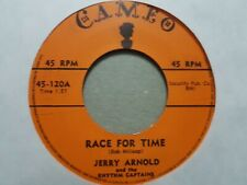 "JERRY ARNOLD & RHYTHM CAPTAINS RACE FOR TIME/ LETS TAKE RIDE 7"" ROCKABILLY VINYL"