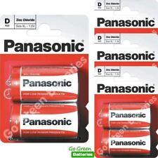 8 x Panasonic D Size Zinc Carbon Batteries  (LR20, MN1300, Mono)
