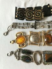 LOT of 4 Chico's W's Chain Belts jewels/ mixed metals/ textiles all 40