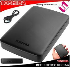 DISCO DURO TOSHIBA 1TB 2.5 SATA USB 3.0 EXTERNO COPIAS FACTURA 2 AÑOS GARANTIA