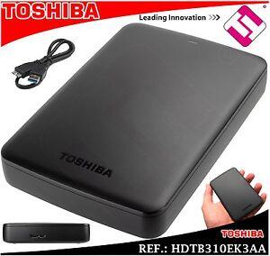 Disk Hard Toshiba Basics 1TB 2.5 SATA USB 3.0 External Invoice 2 Years Warranty