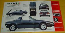 1979 Fiat X1/9 1500 Removable Roof 1498cc 4 Cylinder IMP Info/Specs/photo 15x9
