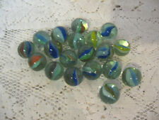 LOT OF 19 VINTAGE CATS EYE MARBLES ~ MIXED COLORS