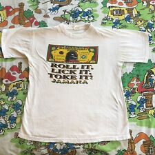 Jamaica Roll Lick Toke It T-Shirt Marijuana humor large tourist rasta marley
