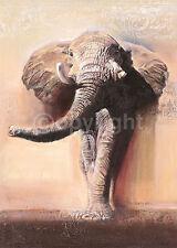 Talantbek Chekirov: King of Savannah Fertig-Bild 50x70 Wandbild Elefanten