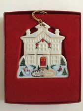 "Lenox ""From Our Home to Your Home"" Christmas ornament with gold tassel in box"