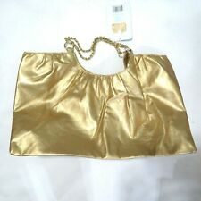 Paris Hilton Gold Shopper Metallic Tote