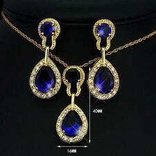 Yellow Gold Plated Blue Fashion Jewellery Sets