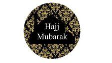 35 Hajj Mubarak Stickers Black Damask Congratulations Umrah Islamic Muslim 219