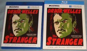 Kino THE STRANGER 1946 Blu-Ray+slipcover/slipcase Orson Welles