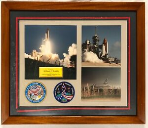 NASA Astronaut Readdy Space Shuttle Discovery STS-51 NAMED Plaque Patches Photo