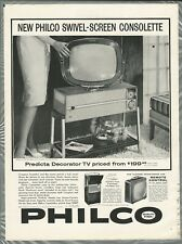 1959 PHILCO PREDICTA TV advertisement, cool futuristic TV set