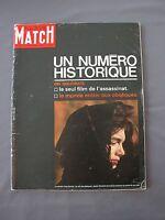 PARIS MATCH 765 7/12/1963 MORT DE KENNEDY assassinat obsèques NUMÉRO HISTORIQUE